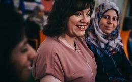Forsetafrú Íslands heimsækir griðastaði UN Women í Zaatari