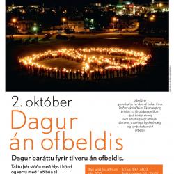 Dagur án ofbeldis – mannlegt friðarmerki á Klambratúni