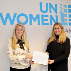 Íslandsbanki og UN Women á Íslandi undirrita samstarfssamning