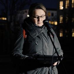 Barátturæða Drífu Snædal í Ljósagöngu UN Women